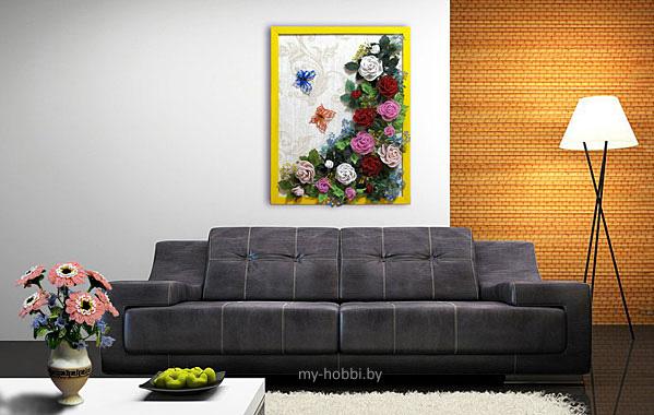 разные цветы из бисера